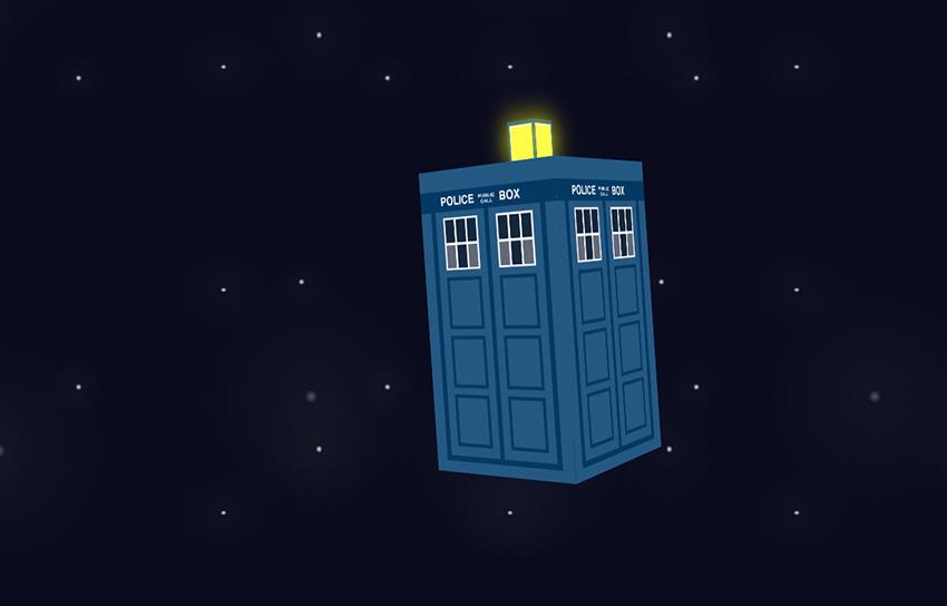 '3D' CSS TARDIS.