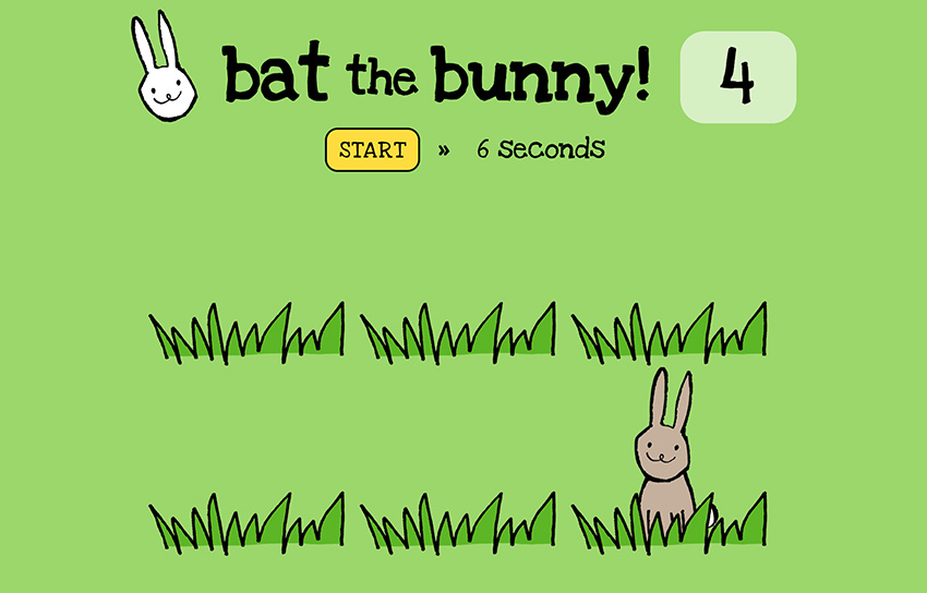 Bat the Bunny game.