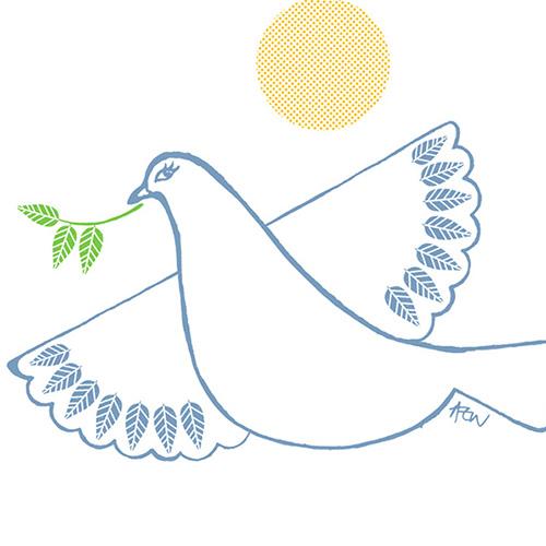 Peace Dove gocco print.
