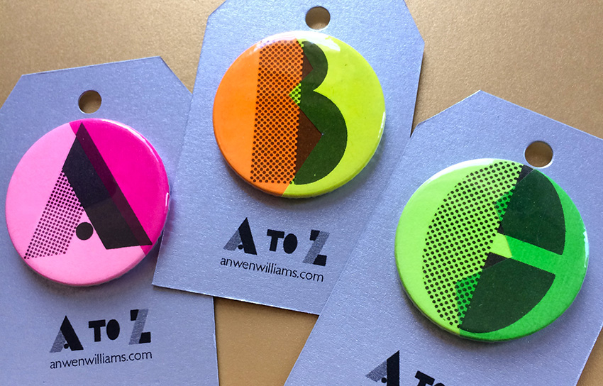 ABC initial badges.