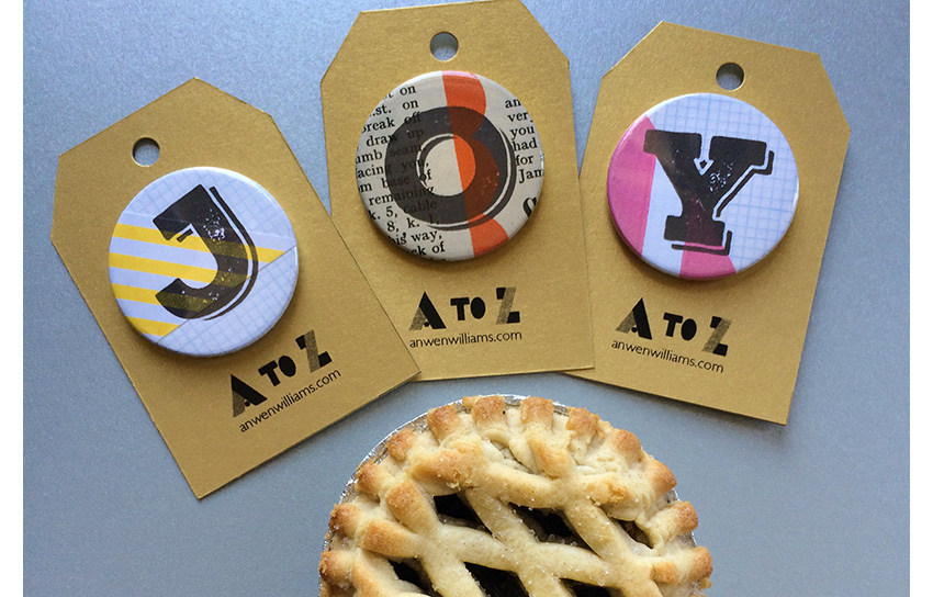 JOY initial badges.