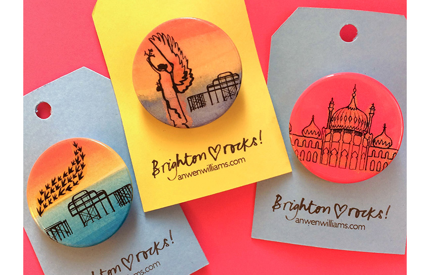 Brighton badges.