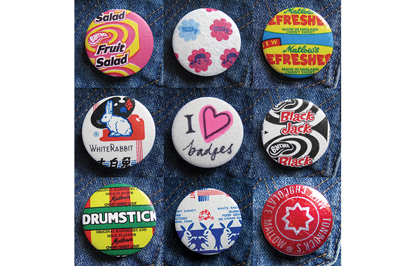 Sweetie wrapper badges.